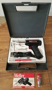 Vintage Weller Soldering Iron Gun Kit Model 8200 100 140 Watts 120v Tested Good