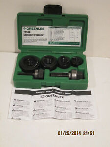 Greenlee Ball Bearing Knockout Punch Kit Complete 735bb Free Ship brand New
