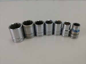 7 Sk Tools 1 2 Inch Drive 12 Point Shallow Sockets 15 16 1 2