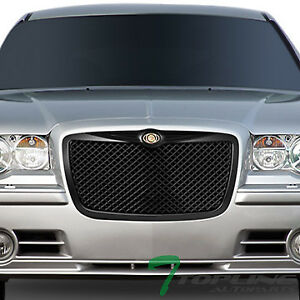 Topline For 2005 2010 Chrysler 300 300c Mesh Front Bumper Grille Matte Black