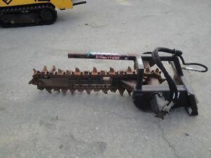 Nice Mini Skid Steer 36 Inch Quick Attach Hydraulic Trencher 0817