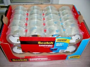 3m Scotch 40 Rolls Heavy Duty Shipping Packing Tape Rough Handling