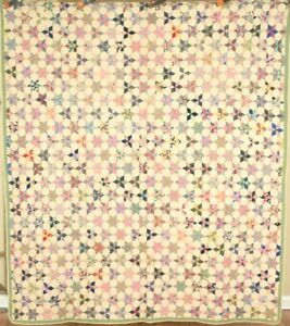 Amazing Vintage 30 S Touching Stars Antique Quilt Great Fabrics