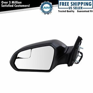 Mirror Power Heated With Spotter Smooth Black Driver Side Left Lh For Sonata New
