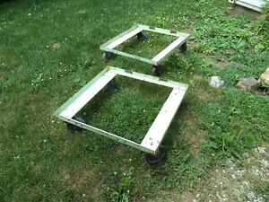 Vintage Steel Industrial Salvage Cart Dolly Factory Warehouse Barn Automobile
