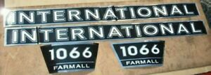 Farmall 1066 Decals Hood And Numbers Only Great Quality