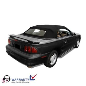 Ford Mustang Convertible Top And Heated Glass Window Black Sailcloth 1994 2004