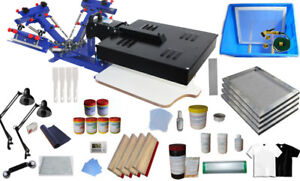 3 Color 1 Station Screen Printing Press Bundle Dryer Silk Screen Printing Kit