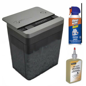 Royal Desktop Shredder With Usb Power Port And Lubricant Oil With Duster Cleaner