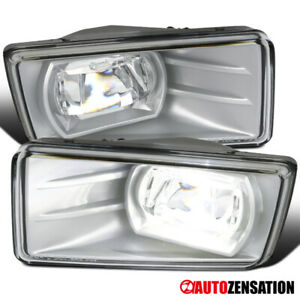 07 14 Suburban Tahoe Silverado Clear Led Projector Bumper Fog Driving Light Pair