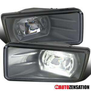 07 14 Suburban Tahoe Silverado Smoke Led Bumper Projector Fog Driving Light Pair