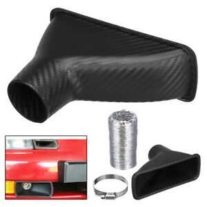 Universal Car Suv Front Bumper Turbo Air Intake Pipe Turbine Inlet Funnel Kit