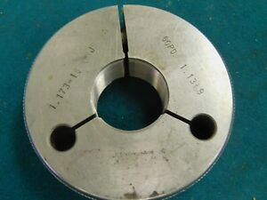 Goodwin Go Thread Ring Gage 1 173 18 Unjs 3a