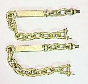 2 Universal 3 Three Point Hitch Chain Stabilizer Turnbuckle Sway Check 23 25