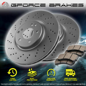 Front Cross Drilled Rotors Ceramic Pads For 1994 2004 Ford Mustang Svt Cobra