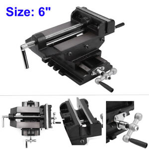 Heavy Duty 6 Cross Drill Press Vise Slide Metal Milling 2 Way X y Clamp Vise