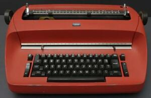 Vtg Ibm Selectric Red Electric Typewriter Model 72 Excellent Working Condition