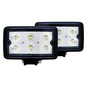 Anzo 3 5 2x10w Rectangular Flood Beam Led Fog Lights