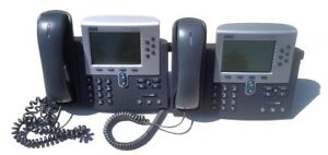 Lot Of 2 Cisco Ip Phone 7900 Series W Handset Cp 7960g