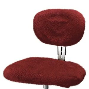 Us Sheepskin 9365l 06 Burgundy Large Steno Chair Cover