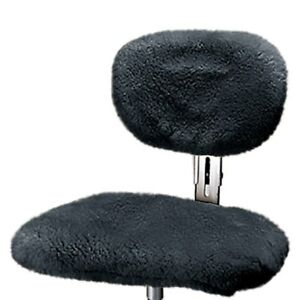 Us Sheepskin 9365 07 Charcoal Steno Chair Cover