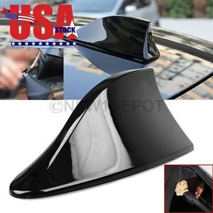Us Black Car Shark Fin Style Roof Mount Fm Am Radio Antenna Aeria For Focus Nd
