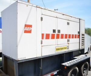 2002 Cat D200p4 200kw Portable Trailer Diesel Generator 240v 3 phase 6710 Hours