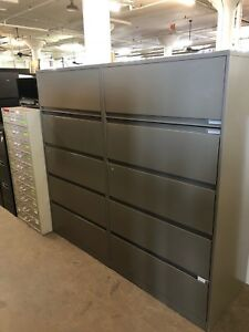 5 Drawer Lateral Size File Cabinet By Steelcase Office Furniture W lock