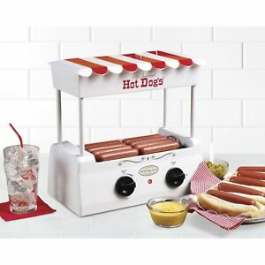 Hot Dog Roller Grill Steamer Cooking Machine With Bun Warmer New