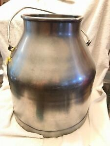 Vtg Delaval 5 Gallon Milk Cream Pail Bucket Stainless Steel Dairy Farm Can