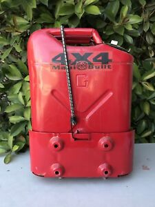 Vintage Dot 5l Red 5 Gallon Metal Jerry Gerry Gas Fuel Can Jeep W Mount Bracket