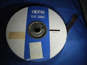 Alpha Wire 3532 7 Ribbon Cable 20 X 1 Cond 22 Awg 100 Ft parcial nos