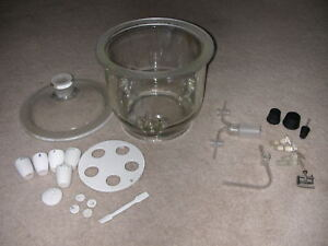 Pyrex Desiccator Vacuum Coors Tray And Cups Glass Tubing Etc Lab