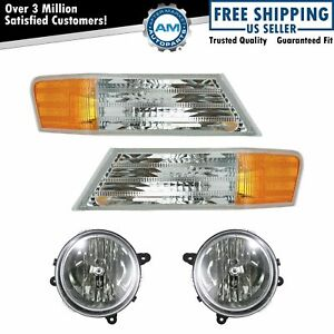 Headlight Parking Marker Turn Signal Lamp Front Set Of 4 Kit For Jeep Patriot