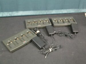 Lot Of 3 Polycom Gcq100 Quad Chargers W Power Supplies
