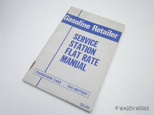 Service Station Flat Rate Manual 1968 Vintage Vw Ford Chevy