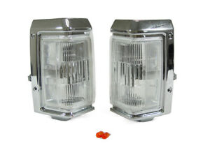 Depo Chrome Trim Clear Front Corner Light Pair For 1987 1995 Nissan Pathfinder