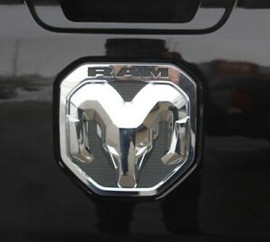 New 2019 Dodge Ram 1500 Chrome Rams Head Logo Tailgate Emblem Oem Mopar