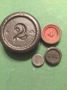 Antique Balance Cast Iron Scale Weights Nesting Stackable Weights