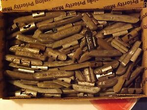 50# Used Lead Clip-On Wheel Weights 50 lbs Box Hand Sorted All Lead