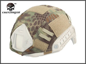 EMERSON Tactical Helmet Cover MR Camo for Ops-Core Fast Helmet Military Hunting
