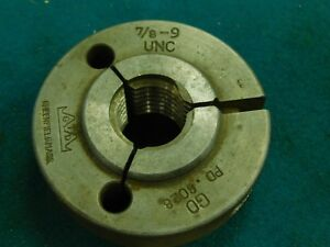 Greenfield Usa Go Thread Ring Gage 7 8 9 Unc
