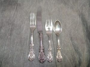 Francis I 1 Sterling Flatware 4 Piece Place Setting No Monogram Reed