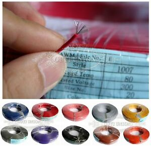16awg 30awg Flexible Ul1007 Rohs Stranded Cable Electrical Wire Cord Hook up Diy