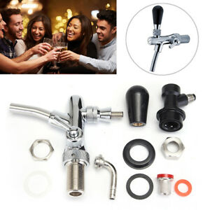 Stainless Draft Beer Faucet Dispenser W Controller Chrome Plating Shank Tap Kit