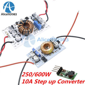 250 600w 10a Step Up Dc Boost Converter Constant Current Power Supply Led Driver