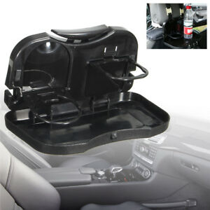 Folding Auto Car Back Seat Table Drink Food Cup Tray Holder Stand Desk Organizer