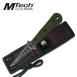 MTech USA MT 20 37GN 7.5quot; Tanto Stonewashed Fixed Blade Knife Tactical Survival AU $29.95