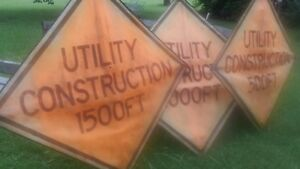 Utility Construction Signs