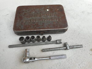 Antique Snap On 1 4 Drive Box Some Sockets